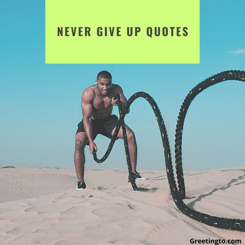 Never Give Up Quotes for Life