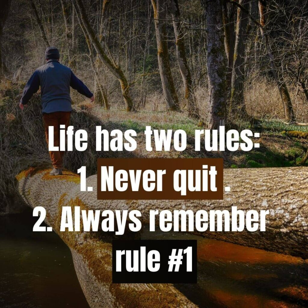Never Give Up Quotes for Students