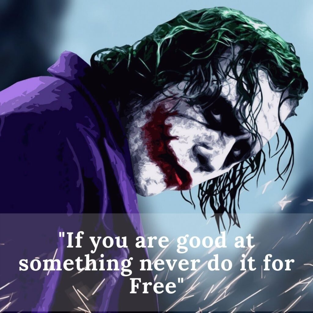 Quotes for Instagram from Joker in the Dark Knight