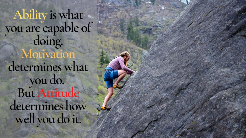 Short attitude quote by Lou Holtz