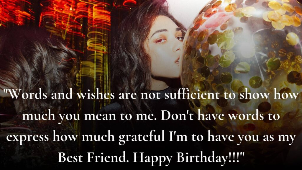 Birthday Wish for a special female Friend